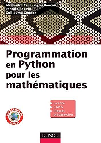 Programmation en Python pour les mathématiques (Sciences Sup)