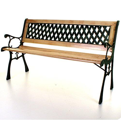 marko-outdoor-wooden-3-seater-cross-lattice-garden-bench-park-seat-with-cast-iron-legs