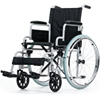 Rollstuhl Karibu Standardrollstuhl schmal Klappbar Fußstützen abnehmbar, Armlehne schwenkbar Größe 41 cm