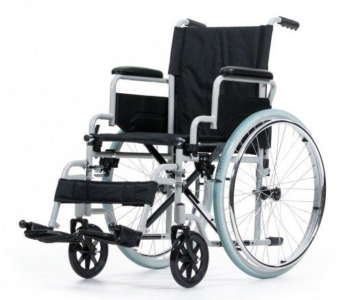 Rollstuhl Karibu Standardrollstuhl schmal Klappbar Fußstützen abnehmbar, Armlehne schwenkbar Größe 46 cm - Rollstuhl Armlehne