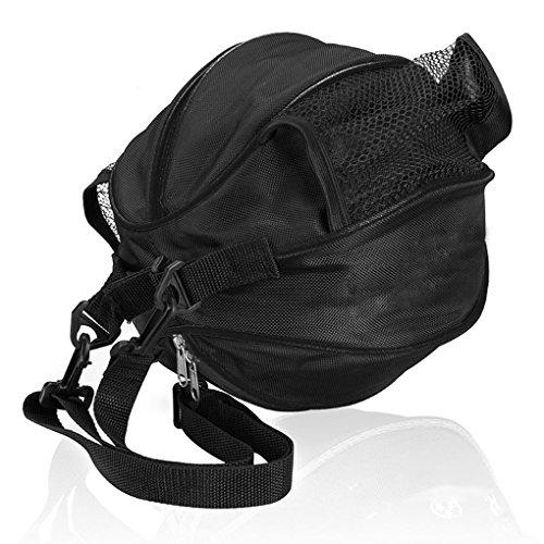 FakeFace Unisex Oxford Gewebe Sporttasche für Basketball Fußball Volleyball Schultertasche Umhängetasche (Schwarz & Gelb) Schwarz