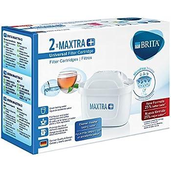 Bianco Brita Filtri Maxtra+ Pack 6 Cartucce Filtranti per Caraffe 6 Mesi di Acqua Filtrata 6 Unit/à Plastica