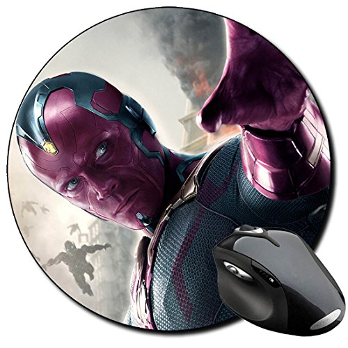 The Avengers 2 Age Of Ultron Vision Mauspad Round Mousepad PC