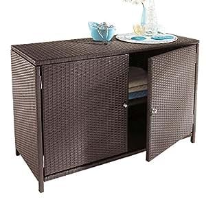 armoire de jardin armoire d 39 ext rieur en r sine tress e. Black Bedroom Furniture Sets. Home Design Ideas