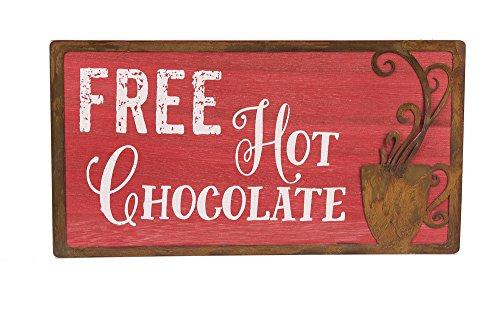 Ganz Free Hot Chocoloate 91/5,1cm X3/20,3x 12,7cm Modernes Wandtattoo Schild
