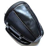 Bolsa de asiento trasero de la motocicleta Bolsas de cola impermeable para el equipaje Casco Alforja