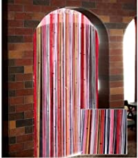 Pindia Fancy Sparkling Plastic Strings Bead Hanging Curtain - 7ft, Multi