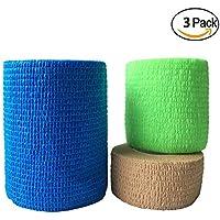 Lezed Benda adesiva Bende Sportive Elastic Bandage Bendaggio Impermeabile Benda Sport Equipaggiamento Protettivo Attività All'aperto Alpinista Protezione per Ginocchia Caviglie e Gomiti (Size A)