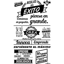 Enkolor/Vinilo pared frases oficina/Adhesivos decorativos/Éxito/Negro/60X100cm.