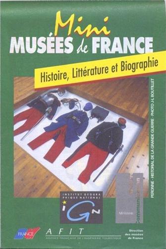Carte touristique : Musées de France, Histoire et Littérature (Mini France the)