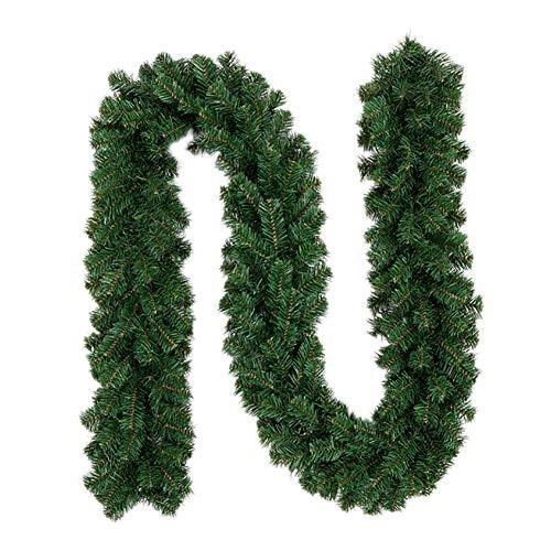 Ghirlanda di natale per casa e giardino, decorazione per interni ed esterni, ornamento verde, verde