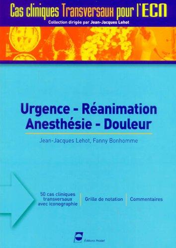 Urgence-Réanimation-Anesthésie-Douleur