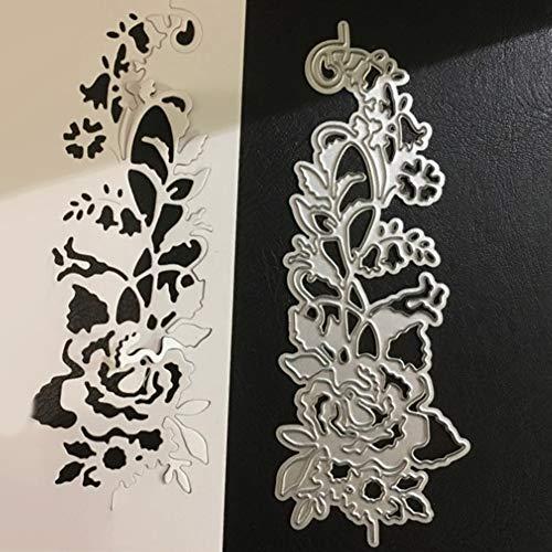 Rosen-Blumen-Seitenkante Stanzschablonen Kohlenstoffstahl Schneiden Schablonen DIY Sammelalbum Set Scrapbooking Papier Karten -