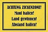 ComCard Achtung Zickenzone! Maul Halten…spruch schild lustig warnschild comic schild aus blech, metal sign, tin
