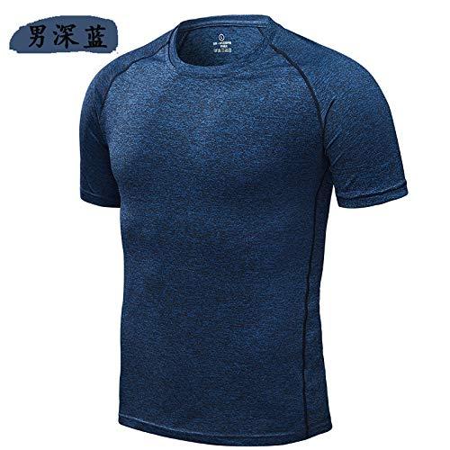 GERPY Schnell trockene T-Shirt Männer Kurzarm große Größe Sport Fitness Kleidung T-Shirt Damen Fitness Kleidung Kurzarm T-Shirt Männer