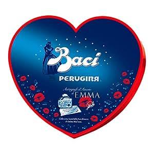 Baci Perugina Cioccolatini Fondenti Ripieni al Gianduia e Nocciola Intera Autografi d'Amore Cuore - 1 Scatola