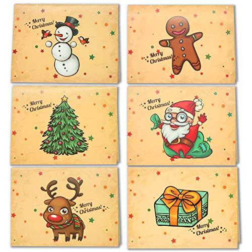 LEHOUR 30 PCS Tarjetas Feliz Navidad Tarjetas