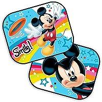 Parasoles para el coche, lote de 2con diseño de Mickey Mouse, de Disney 44 x 35 cm.