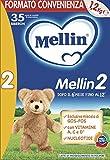 Mellin 2 Latte di Proseguimento in Polvere  - 1 Confezione da 3 pezzi, 1,2 Kg