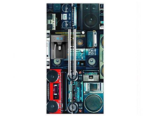 Vinilo Frigorífico Americano Radiocasettes | 90x180cm | Varias Medidas | Pegatinas de...