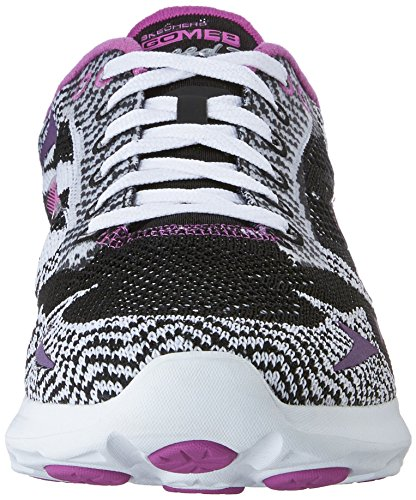 Skechers Go Meb Speed 3 2016, Baskets Basses femme Noir - Noir/blanc