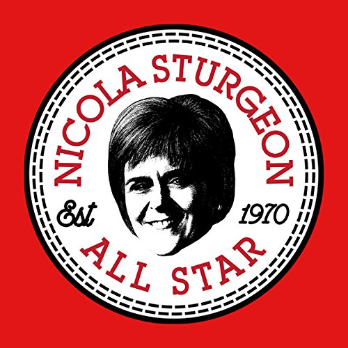 Nicola Sturgeon All Star Converse Logo Women's T-Shirt red