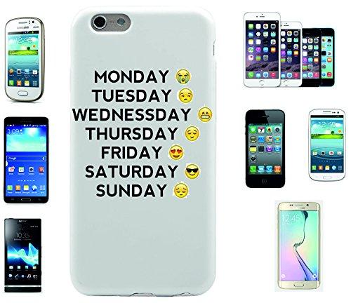"""Preisvergleich Produktbild Smartphone Case LG G5 """"Wochentags Smiley von Cool bis traurig"""", der wohl schönste Smartphone Schutz aller Zeiten."""