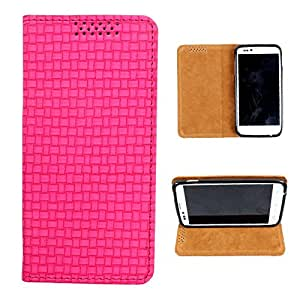 i-KitPit PU Leather Flip Case For Micromax Canvas Doodle A111 (PINK)
