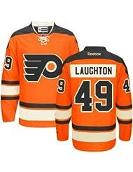Philadelphia Flyers NHL Premier Sewn Ice Hockey Jersey Laughton #49 Mens X Large