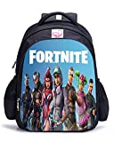 Memoryee Fortnite 3D juego de impresión Unisex School Bag Collection Mochila de lona port¨¢til libro Satchel bolsa de senderismo - 15L/32 x 17 x 42 cm/Fortnite04-big
