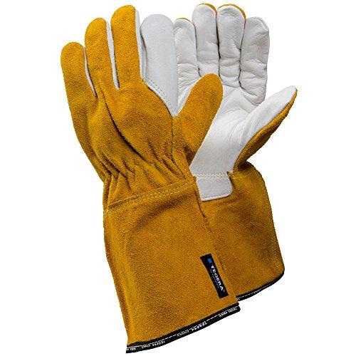 Ejendals Hitzeschutzhandschuh Tegera 8, Größe 10, 1 Stück, weiß / schwarz, 8-10