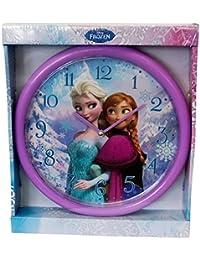 Disney Frozen Kinderwanduhr Anna & Elsa 25cm violett - Das perfekte Geschenk