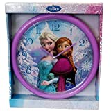 Disney Frozen Anna & Elsa da girls-children 25 cm viola orologio da parete – regalo perfetto