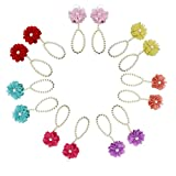 Eleery 5pairs/10pcs Fashion Newborn Baby Girl's Kids Flowers Foot Band Ties Infant Toddler Foot Wear Barefoot Sandals Shoes Feet Accessory Decoration (Pearl-5pairs) - Eleery - amazon.co.uk