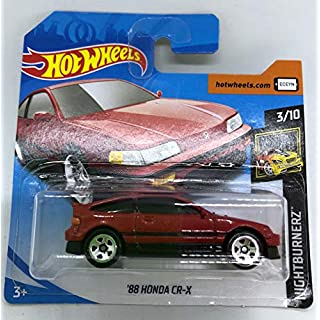 2019 Hot Wheels '88 Honda CR-X Red 3/10 HW NightBurnerz 49/250 (Short Card)