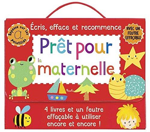 Prêt pour la maternelle : Coffret de 4 livres avec un feutre effaçable