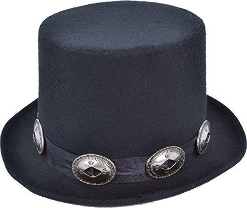 Für Erwachsene Kostüm 1980 - Erwachsene Herren 1980's TOP Verkleidung Kostümparty Slash Rocker Style Hut mit Schnallen UK