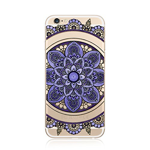 Coque iPhone 7 Housse étui-Case Transparent Liquid Crystal en TPU Silicone Clair,Protection Ultra Mince Premium,Coque Prime pour iPhone 7-Mandala-New-style 19 3