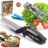 2 en 1 couteau de cuisine, planche à découper et couteau Ciseaux