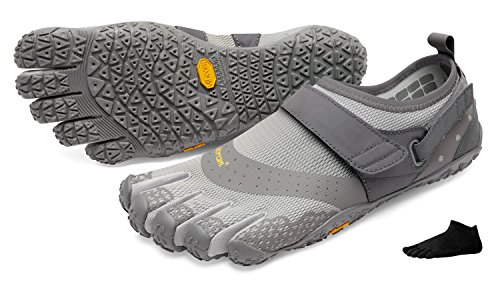 Vibram FiveFingers V-Aqua Men + Zehensocke 11005, Size:45;Color:Grey