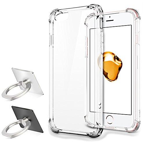 Custodia protettiva per iPhone 7 con 2 Anello Phone Stand,