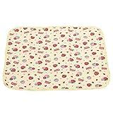 Zerodis Baby Wickelauflage Wickelunterlage Neugeborenen Windel Matte Tragbar Wasserdicht Baumwolle Tuch für Mädchen Jungen(L-Strawberry)