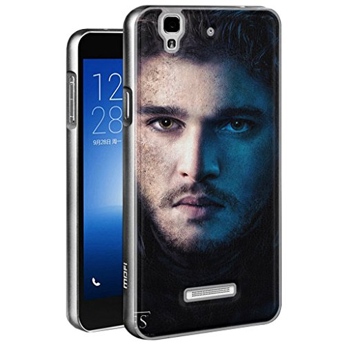 BloomFall Printed Series Real Genuine Leather Back Metal Bumper Cover Case for Micromax YU Yureka Ao5510
