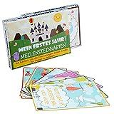 Baby Meilenstein Karten & Milestone Baby Cards auf Deutsch – 40 süße Babytagebuch Babykarten & Fotokarten für Babys erstes Jahr – das ideale Babygeschenk