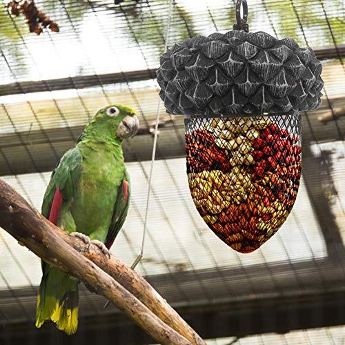 Destinely Vogelhäuschen im Freien, Vogelhäuschen-hängendes wildes Vogelfutterhäuschen, hängendes Laternen-Vogelfutterhäuschen, Vogelfütterungsstation -