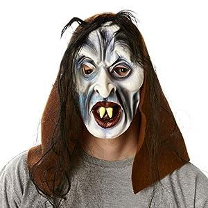 HEITMANN DECO 7105 Casa de Halloween - Bruja Máscara adulto, incl. pelo falso y la tapa