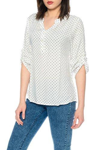 Dress Sheek Damen 3/4 Tunika Oberteil T-Shirt Top Normale und Übergrößen Große Größen Gemustert Lüftig Basic Bluse DS083