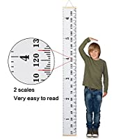 """Smileupon Baby Growth Chart Wall Hanging Ruler for Kids, Canvas Height Measurement Ruler for Nursery Room Decoration,79""""x7.9"""""""