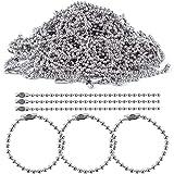 bronagrand 100piezas de 150mm de largo con cierre conector 2,4mm diámetro bola cadenas llavero etiqueta clave anillos