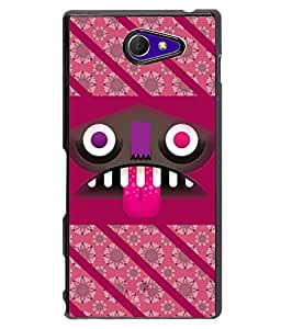 Fuson 2D Printed Designer back case cover for Sony Xperia M2 - D4458
